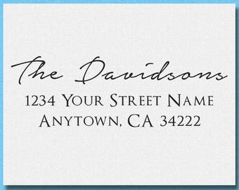 Personalized Initial Family Address Stamp, Self Inking or Rubber Stamp Return Address Stamp, Custom Personalized Address Stamp