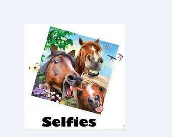 Horse Selfies New Various Sizes and Colors Available