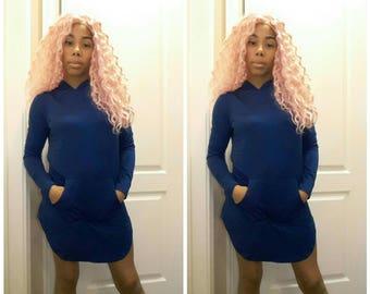 Royal Blue hoodie dress