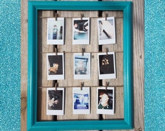 "Instax Mini/ Polaroid Picture Display Aqua 13""/16"""