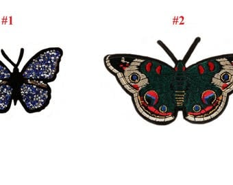 Butterfly Embroidered Iron on Patch VNEM50