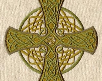 Celtic  Cross Embroidery add on for Magical Monk Bags or Messenger Monk bags