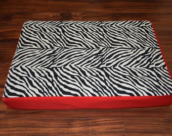 Dog Bed in Zebra Print