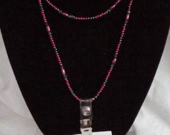 One of a kind beaded necklace/I.D. badge lanyard