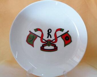 VJ723 : Roberta Di Camerino porcelain plate,Rare