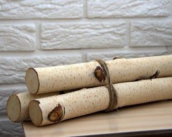 3 wood stick, birch sticks, wood decor, Birch Log, White Birch branches, decorative birch wood, birch logs, craft wood, eco wood, eco decor