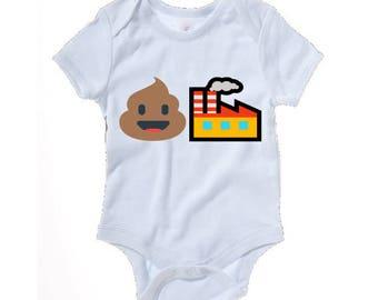 Emoji Poop Factory funny baby grow - baby clothes
