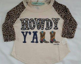 Howdy ya'll Leopard print top