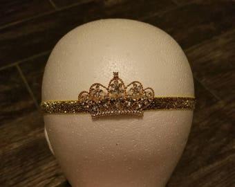 Gold tiara headband