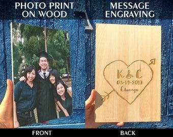 Your Photo On Wood, Custom Photo On Wood, Photos On Wood, Wood Photo Print, Wooden Wall Art, Photo Printed On Wood, Wood Print, Woodworking