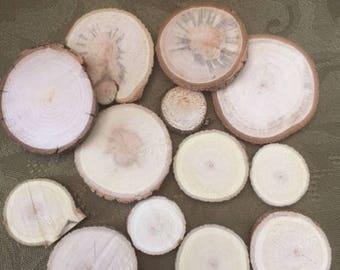 Circular Raw Wood Chips (set of 13)