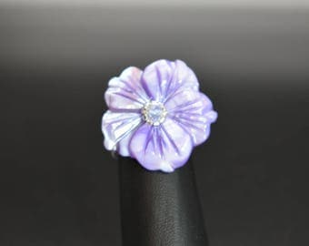 Flower ring, fashion jewelry, beaded ring, chic, trendy, women's ring