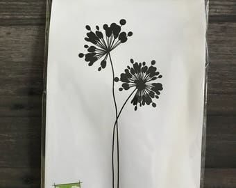 Impression Obsession Floral Rubber Cling Stamp