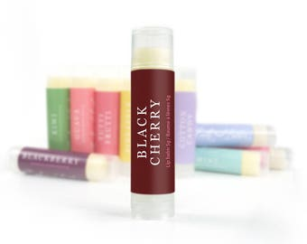 Black Cherry Lip Balm | Lip Butter, Natural Lip Care, All Natural Lip Balm, Shea Butter Lip Balm, Beeswax Lip Balm