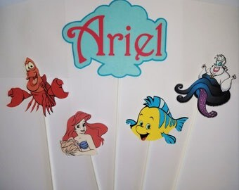 Ariel The Little Mermaid Birthday Centerpiece Kids Party The Little Mermaid Birthday Ideas