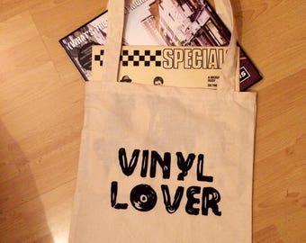 Vinyl/ Record tote bag 'vinyl lover'