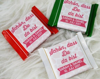 20 x Ritter Sport Mini gift wedding