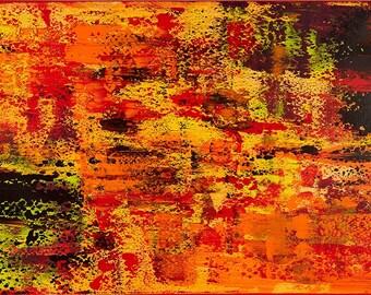 Blaze - Acrylic on Canvas Painting - Abstract Art