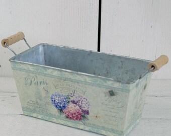 Vintage Style garden planter Flower Trough small, gift for gardeners, parisian style flower pot, garden accessories