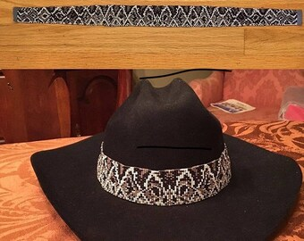 Imitation Diamondback Rattlesnake Skin Hatband