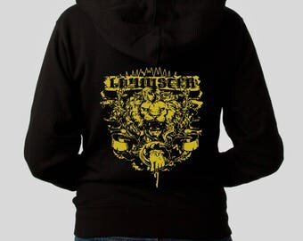Sweatshirt woman womanHoodie LANNISTER gold ink different different sizes plus size sweatshirt