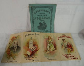 Hostetters bitters and dr mcleans fold out 1888