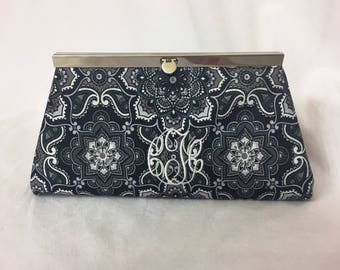 Black and White Paisley Clutch