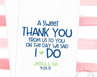 A Sweet Thank You From Us To You, Favor Bags, Popcorn Bags, Candy Buffet Bags, Cookie Bags, Wedding Favors, RD040