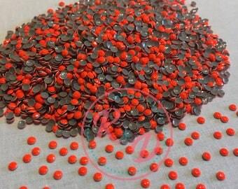 Wholesale Korean Florescent Orange Hotfix 4mm RhineSTUDS