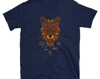 I'm Sly That's Why Fox T-Shirt - Animal T-Shirt - Sayings T-Shirt - Hipster T-Shirt - Foxy T-Shirt - Unique Graphic Tee - Artwork Fox Girl