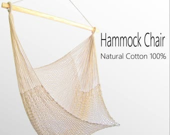 hammock chair natural cotton 100  ivory white handmade thailand hammock chair white hammock chair with fringe and loose  rh   etsy