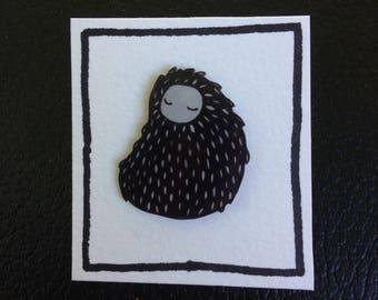 Handmade Cute Yeti Brooch
