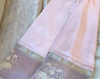 Raw mango pale pink silk saree.