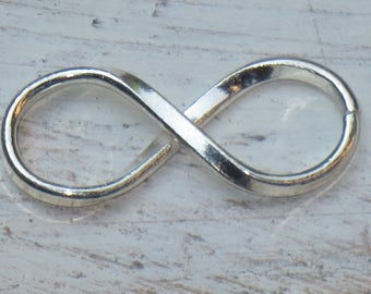 Sterling Silver Infinity Link Connector, Figure Eight Connector, Karma Link, Karma Connector