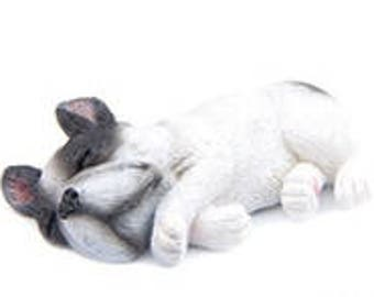 French / French Bulldog magnet - black and white
