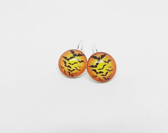 Halloween bat earrings mouse