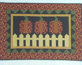 Pumpkin Harvest Quilted Wall Hanging