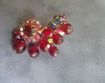 Beautiful Vintage Pin repurposed from an earring.