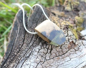 Wood Necklace, Wood Resin Jewelry, Resin Wood Necklace, Epoxy Resin, Mom gift, Resin Jewelry, Wood and Resin, Wood Jewelry, Handmade Jewelry