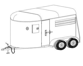 6′ x 11'2″ Two Horse Trailer Plans Blueprints – Model 12HR | Master Plans & Designs