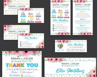 Rodan Fields Bundle, Rodan and Fields Marketing Kit, Rodan + Fields Business Cards, RF Cards, R and F Marketing Package, Digital RF17