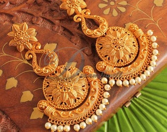 Delicate gold-plated earrings- Free Shipping and Handling!