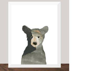Little Bear Print - Bear Cub Digital Print