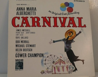 1961 Carnival an Original Cast Recording Vinyl Record Vtg. Good Condition