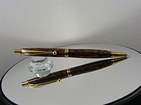 7mm Mechanical Pencil in TN Gold and Black Palm