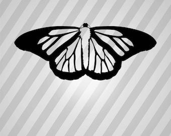monarch butterfly Silhouette - Svg Dxf Eps Silhouette Rld RDWorks Pdf Png AI Files Digital Cut Vector File Svg File Cricut Laser Cut