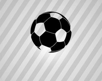 Soccer Ball Silhouette Ball - Svg Dxf Eps Silhouette Rld RDWorks Pdf Png AI Files Digital Cut Vector File Svg File Cricut Laser Cut