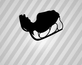 Sledge Silhouette Sleigh - Svg Dxf Eps Silhouette Rld RDWorks Pdf Png AI Files Digital Cut Vector File Svg File Cricut Laser Cut