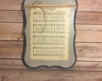 Hymnal wall hanging