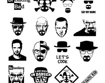 Breaking Bad Svg/Eps/Png/Jpg/Cliparts,Printable, Silhouette and Cricut File !!!